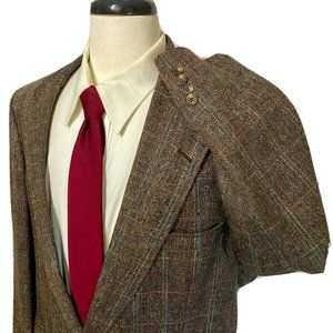 Austin Reed Blazer Silk Windowpane Jacket 48R